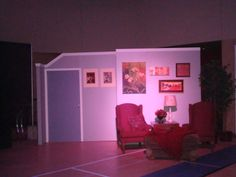 #SilverPointProductions. Stage for Family Feud production - with working door and hall way area.SPP Church Set Design