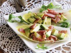 Witloofschuitjes met avocado en spekjes