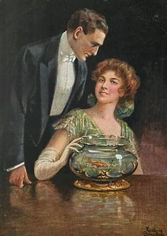Gnischaf, Sein - Goldfish Romantic Couple Fish Bowl (maybe-Ruabon Gnischat)