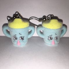 Shopkins Foodie Earrings  Sippy Sips  repurposed toys by ErinEtc