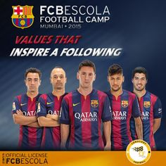 #Football fans, learn the values that inspire #FCBarcelona! Register NOW for FCBescola Football Camp.
