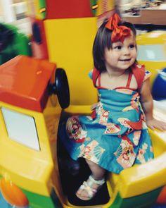 We love this action shot of Baby Diva Mia in the Geisha Fans Jetson Set! #trashydiva #trashydivarockabillybaby #trashydivageishafans