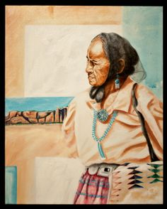 """""""Hozho Nahastlii"""" """"Going to Ceremonial"""" by Fritz Casuse, Navajo"""