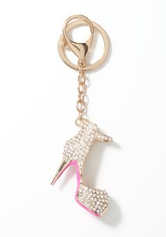 #bebewishlist  A perfect stocking stuffer, this bebe key chain features our crystal-embellished Lucie sandal. Try it on a set of keys or as an ornament on a handbag.
