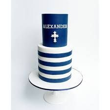 Image result for CHRISTENING CAKES BOY NAVY GOLD