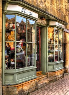 Chipping Campden, Gloucestershire England.  I remember my grandfather's cousins bicycle shop in a shop like this on on the high street
