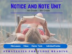 My 57 slide PowerPoint Notice and Note Unit provides for teachers a complete resource of how to deliver and model all of the 'Notice and Note' lessons. Each signpost is presented with warm ups, videos explanations, applications, a wide variety of mentor texts, and even many practice samples from other pieces of text that students can use during independent practice.
