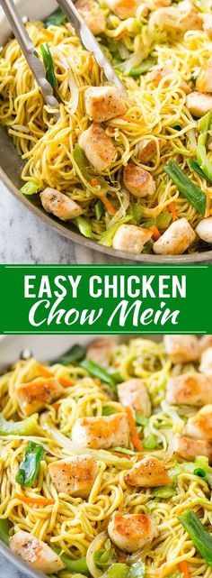 Chicken Chow Mein Recipe Easy Chicken Recipe Chow Mein Chinese Food chowmein takeout asianfood dinneratthezoo is part of Chicken chow mein recipe easy - Chicken Chow Mein Recipe Easy, Easy Chicken Recipes, Asian Recipes, Healthy Recipes, Healthy Chow Mein Recipe, Easy Chicken Stir Fry, Easy Recipes, Chow Mein Au Poulet, Pasta Dishes