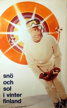 vintage ski poster -