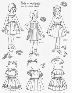 Miss Missy Paper Dolls: vintage Barbie Drawing Guide