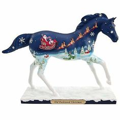 The Trail of Painted Ponies Old Fashioned Christmas Pony Figurine