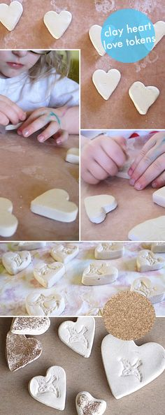 hand out some love tokens handmade air dry clay diy for kids on valentines day - Small for Big
