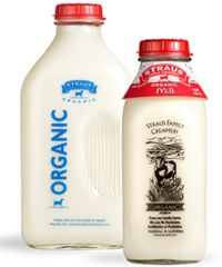 Organic milk in glass is always in our dairy cooler - from the lovely folks up at the Straus Family Creamery in Marshall, CA