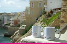 Coffee mugs from Syros Coffee Mugs, Tableware, Gifts, Dinnerware, Presents, Dishes, Coffee Cup, Favors, Gift