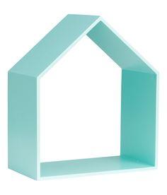 Sieh's dir an! Holzregal in Form eines Hauses. Größe 10x19x22,5 cm. – Unter hm.com gibt's noch viel mehr.
