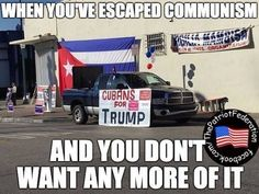 FACT! THE CUBANS IN THE PICTURE KNOW TRUE COMMUNISM & SOCIALISM!!! GOD BLESS PRESIDENT TRUMP! #MAGA