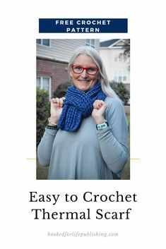 Easy to Crochet Thermal Scarf - Hooked for Life Crochet Cowl Free Pattern, Crochet Cowls, Easy Crochet Patterns, Crochet Scarves, Crochet Designs, Free Crochet, Diy Scarf, Scarf Patterns, Unique Crochet