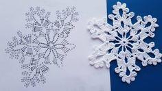 Crochet Stitches, Crochet Patterns, Crochet Snowflakes, Xmas Decorations, Crocheting, Christmas, How To Make, Snowflake Pattern, Tejidos