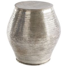 Wisteria - Furniture - Shop by Category - Poufs & Stools - Brass Indian Stool Thumbnail 2