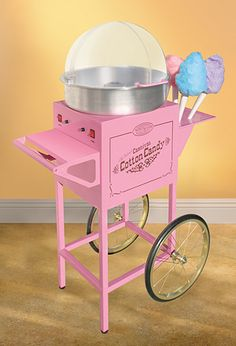 The Old Fashioned Carnival Cotton Candy Machine resembles the circus style cotton candy carts of the early 1900s. At over 4 feet tall, it provides endless joy for all of your party needs, and is also approved for commercial use. It spins both sugar and hard candies into sweet candy floss onto the included reusable plastic cones. Simply pour the sugar mixture or place crushed hard candies in the top, turn the unit on, and instantly make fresh carnival-style cotton candy right in your own…