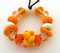 CITRUS Handmade Lampwork Bead Orphan Set taneres by taneres, $15.00