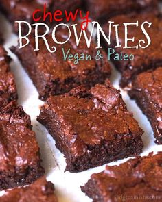 Chewy Vegan & Paleo Brownies. The BEST brownies I've ever had!