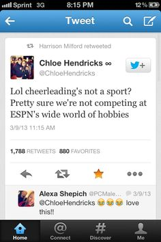 thank u urg i hate when people say cheer isnt a sport im just like screw you