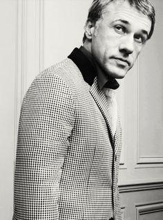 Christoph Waltz for Prada's Fall/Winter 2013 men's advertising campaign