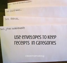 I know i can do better with paper in my home. How to Stop the Paper Trail – Receipt Storage
