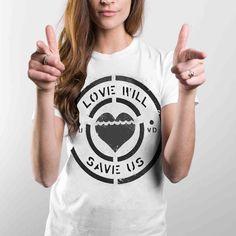 Fab.com | Love Will Save Tee Womens White
