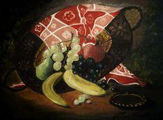 Natura rusticana  (olio su tela, vernice, 35x50 cm)