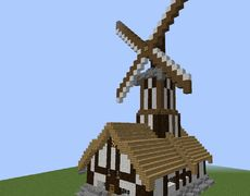 Medieval Windmill House Minecraft