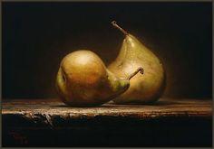Oil on Canvas by Kyle Polzin A Sweet Pair  7 x 9
