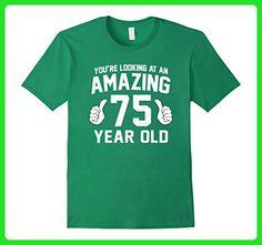 Mens Awesome 75th Birthday Saying T-Shirt Funny 75 Years Gag Gift XL Kelly Green - Birthday shirts (*Amazon Partner-Link)
