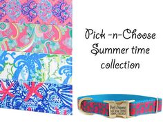 Personalized Dog Collar in Pick and Choose Summer Collection