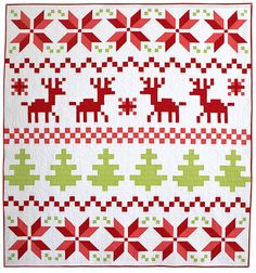 Freshlypieced.com Image of Fair Isle Christmas Quilt Pattern - PDF version
