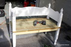 An Accomplished Woman: Garden Headboard Bench