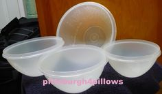 3 - Tupperware - 236 Free Heat Damage - 233,234,& 235 - No Damage On The 3 Buying Just Those - No Lids - Read Below by pittsburgh4pillows on Etsy