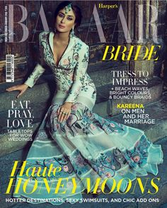 Kareena Kapoor Khan, the epitome of beauty and one of the most successful actress of Bollywood has made her mark in the film industry. The gorgeous beauty is going to be the cover girl for Harpers Bazaar Bride India it was shot in Barcelona, capturing the divine beauty in elegant attires. She is looking every bit of a royal highness..don't believe us? Check out her mesmerising pictures below.