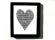 I love this Minimal Black Heart print by the big harumph! Made with hand-pulled linoleum cut -- love the texture and interesting pattern. Wall Art Prints, Poster Prints, Posters, Custom Pencils, Linoleum Block, Linocut Prints, Black Heart, Heart Print, Letterpress