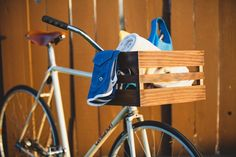 DIY Wooden Bicycle Basket