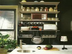 Vintage Kitchen Wall Shelves