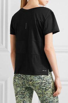 Nike - Paneled Dri-fit Stretch-jersey T-shirt - Black -