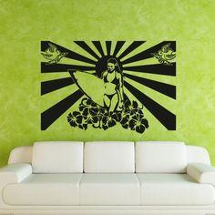 Wall Decal Art Decor Decals Sticker Surf Surfing Girl Poster Sun Lotus Flower Bird Love Recreation (M263) DecorWallDecals http://www.amazon.com/dp/B00FWKH6NM/ref=cm_sw_r_pi_dp_ommYub0ZNZBC1