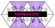 Juf Inger: tafelpuzzels
