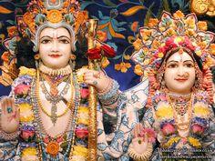 Sri Sri Sita Rama Close up Wallpaper {Bhaktivedanta Manor}