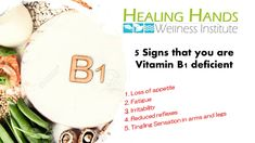 5 Signs that you are Vitamin B1 deficient
