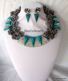 Lovely Teal set Accessorized with beautiful teal accessories earring and bracelet included