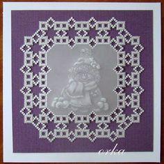 Karteczka pergaminowa świąteczna. Parchment craft