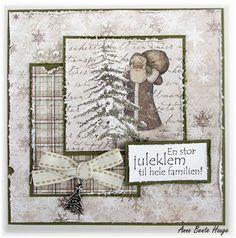 Enkelt julekort med Maja Design